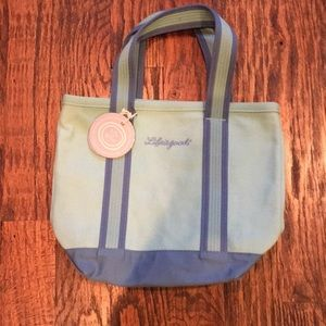 Life is good. Blue tote